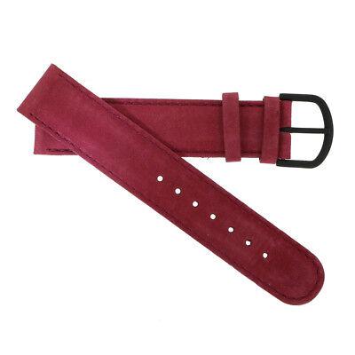 WatchPeople Uhrenarmband Leder beere 18 mm
