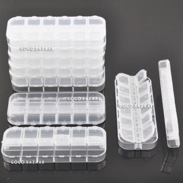 BF 10pcs Professional Empty Case Nail Art Tip / Glitter / Rhinestone Storage 217