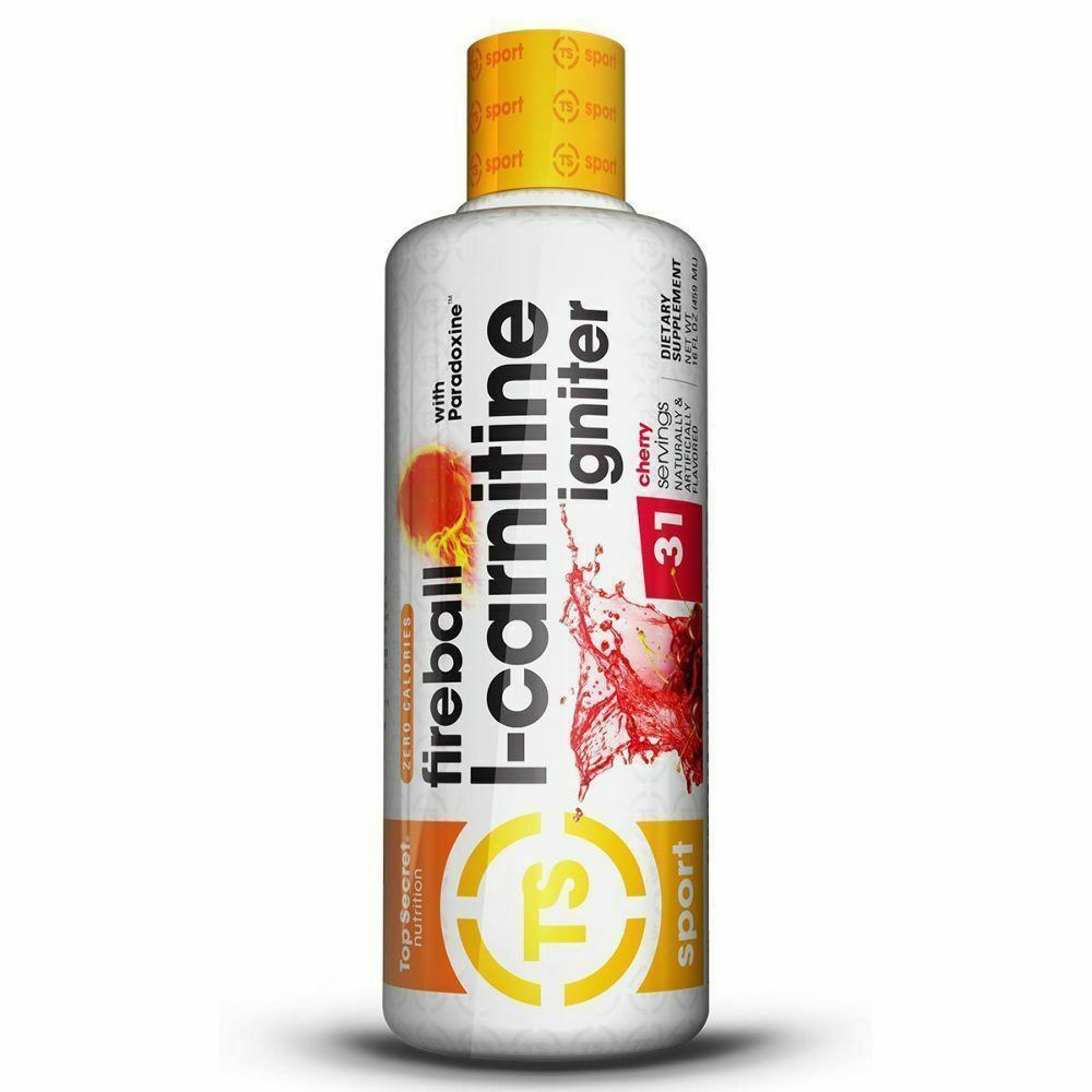 31 Servings NEW Top Secret Fireball Liquid L-Carnitine Igniter ALL FLAVORS 16 oz