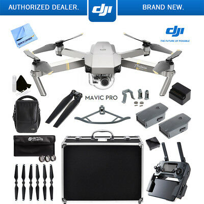 Mavic Pro DJI 4K Camera Quadcopter Drone Active Track Avoidance GPS 2 Batteries
