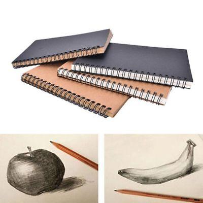 Stationery Spiral Bound Kraft Paper Art Paper Sketchbook Notebook Crafts