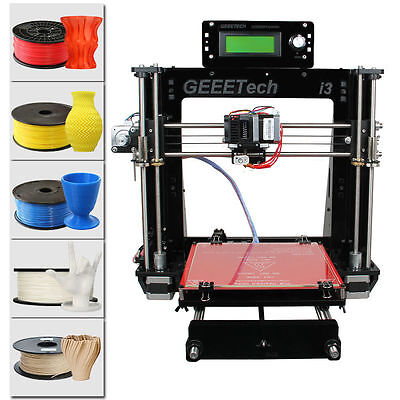 Geeetech Acrylic Reprap Prusa I3 All Metal Parts Pro B 3D Printer from US
