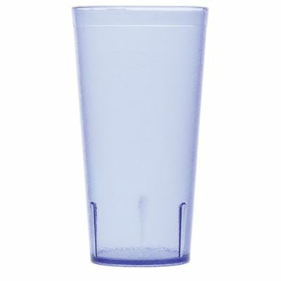 G.E.T. 20 oz Stackable Blue SAN Plastic Pebbled Tumbler #6620-1-BL ()