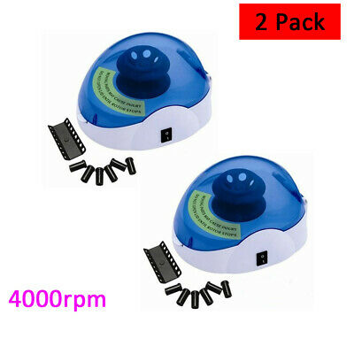 2 Pack 220v 4000rpm Professional Microcentrifuge Laboratory Centrifuge Mini4k Us