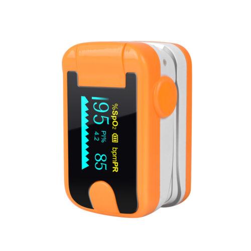 FDA Pulse Oximeter Fingertip Blood Oxygen SpO2 Monitor PR PI Heart Rate Oximetro