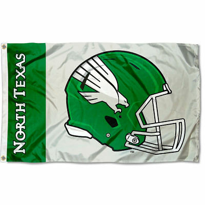 North Texas Football - North Texas Mean Green Football Helmet Flag Large 3x5