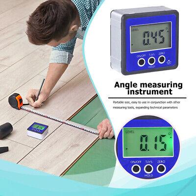 Mini Magnetic Digital Protractor Angle Finder Level Box Inclinometer Meter B8j5