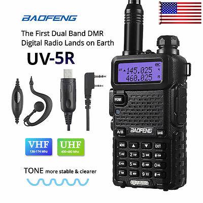 Baofeng UV-5R VHF/UHF Dual Band Two Way Ham Radio Transceiver Walkie Talkie MYD
