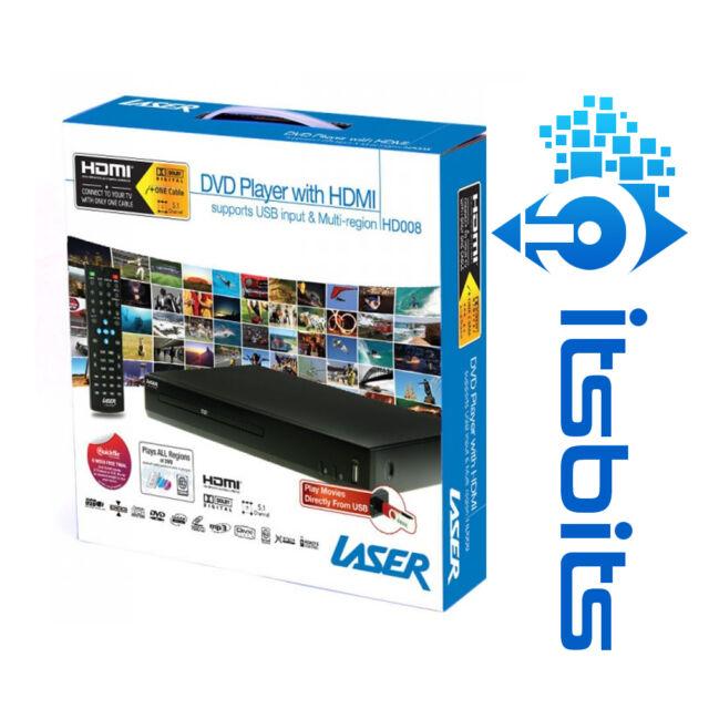LASER DVD-HD008 HD DVD PLAYER HDMI + RCA OUTPUT + REMOTE + USB PORT MULTI REGION