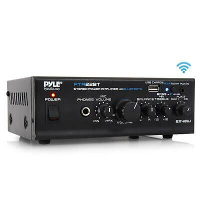 80W 2CH BLUETOOTH HOME THEATER AMP AMPLIFIER AUDIO RECEIVER SOUND SYSTEM MP3