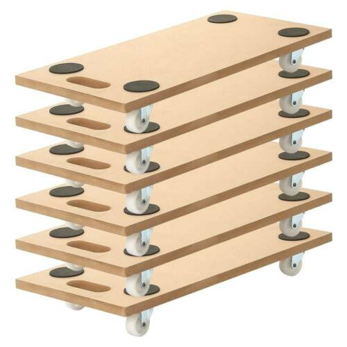 "6 Pack 23""x12"" Dolly Moving Cart Platform 400LB Rectangle Wood Mover Platforms"