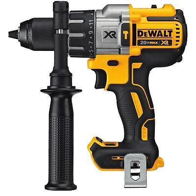 Dewalt 20V Max Xr Cordless Li Ion Brushless 3 Speed 1 2  Hammer Drill   Dcd996