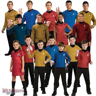 Star Trek Movie Costumes ~ Captain Kirk Spock Scotty Uhura Mens Ladies - Kids Star Trek Costume