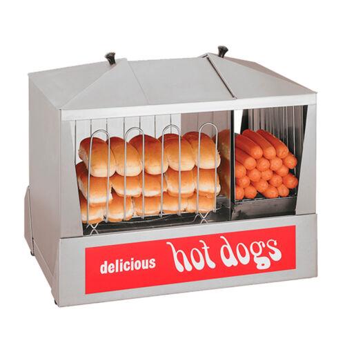 Star 35ssc 130 Hot Dog Capacity Hot Dog Steamer W/ Bun Warmer