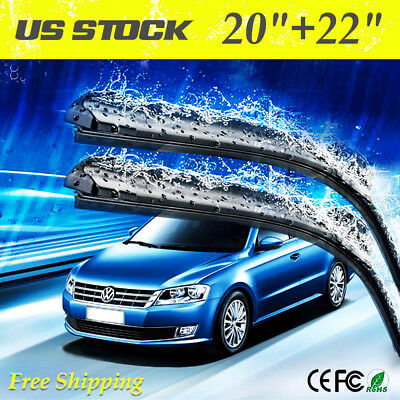 22  20 JHOOK Windshield Wiper Blades OEM Quality Beam ALL SEASON PREMIUM HE