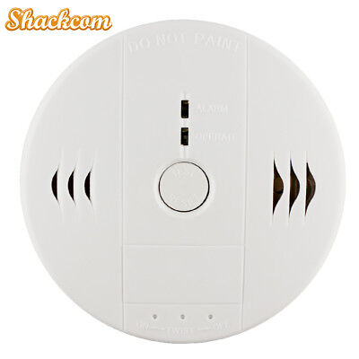 2-Pack Smoke Carbon Monoxide Combination Detector Alarm Battery Operate Carbon Monoxide Detector Battery