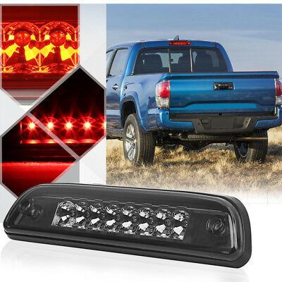 Best Smoked Housing Rear 3rd Third Brake LED Light for 95-17 Toyota Tacoma