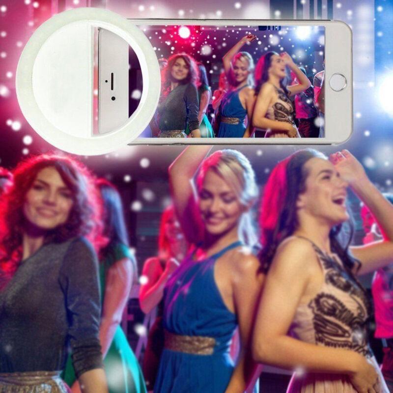 White Selfie Portable LED Ring Fill Light Camera For Apple iPhone 7 PLUS - New