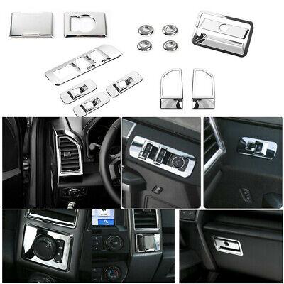 Full Set Interior Accessories Decoration Cover Trim For Ford F150 2015-19 Chrome