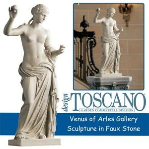 NEW Design Toscano Venus of Arles Gallery Sculpture in Faux Stone Condtion: New