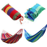 "76"" x 30"" Leisure Canvas Hammock Stripes for Camping Travel Two Colors Random"