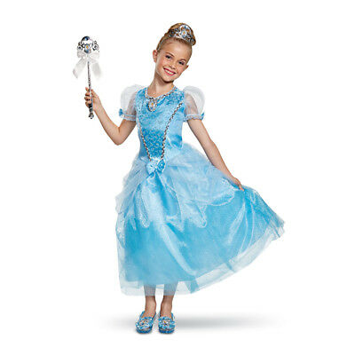New Cinderella Halloween Costume (Girls Cinderella Deluxe Gown Halloween)