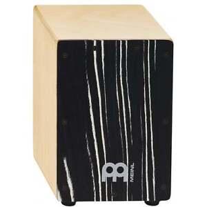 Meinl Mini Cajon with Striped Onyx Frontplate SCAJ1NT-SO - Percussion Accessory