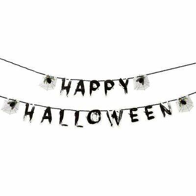 Job Lot/Wholesale 6 x Happy Halloween Skeleton Garland Banner