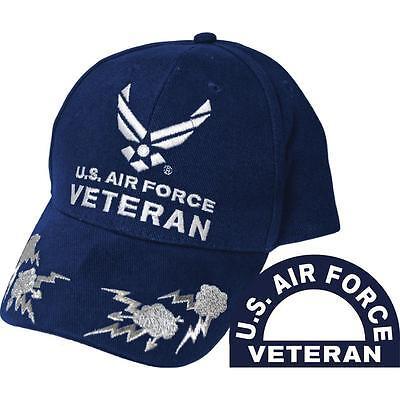 U.S. Air Force Veteran III Scrambled Eggs Hat Blue Cap USAF