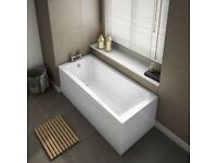 Single ended bath tub 1600x700 with matching bath panel from Victorian plumbing