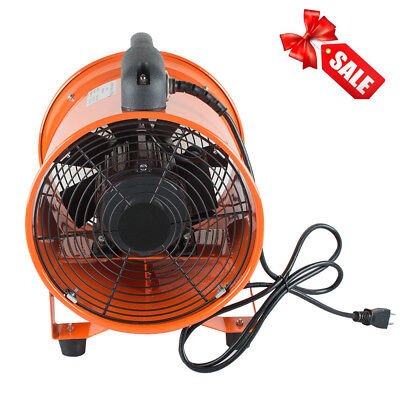 110V Portable Ventilation 10 Inch Fan Blower Gas Paint Garage Auto Shop Fan Blow