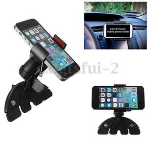 Universal Car CD Slot Holder Mount For Mobile Phone iPhone 7 6 Samsung Sat Nav