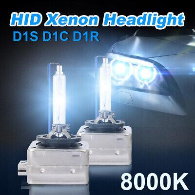 2PCS D1C D1S D1R HID Xenon Car Headlight Ice Blue Light Bulbs OEM Replace 8000K