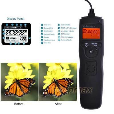 Timer Intervalometer Remote Shutter For Nikon D3300 D7200 D5400 D90 Camera uk