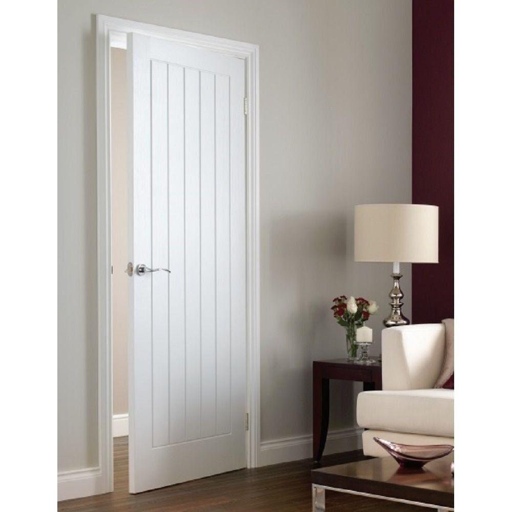 White Internal Doors Vertical 5 Panel Moulded Primed White Interior