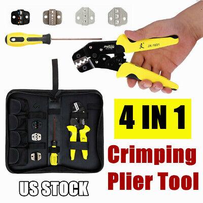 Professional Crimper Ratcheting Pliers Meterk Terminal Wire Tool Set Crimping