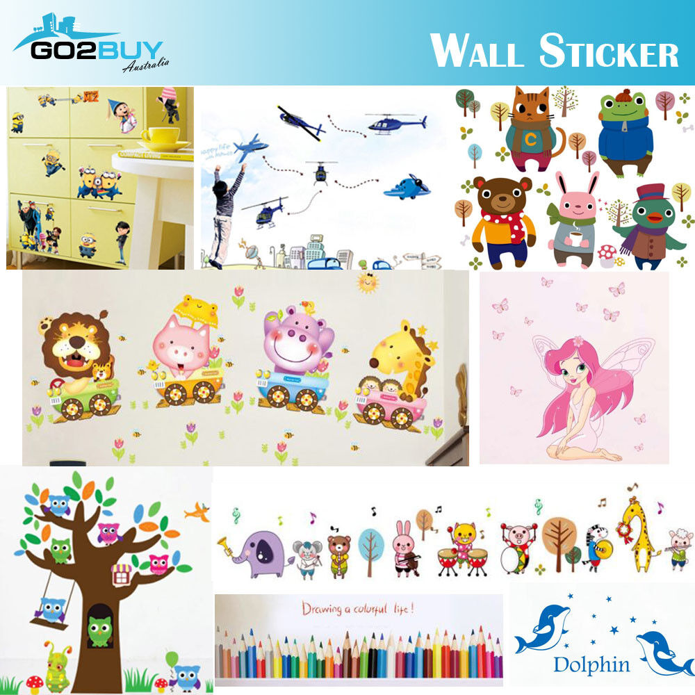 Home Decoration - DIY Wall Stickers Kids Removable Vinyl Decal Mural Home Decor Nursery School