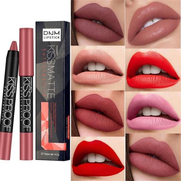 Sexy Kiss Proof Matte Lipstick Longlasting Soft Lip Lipsticks Pen Beauty Gift
