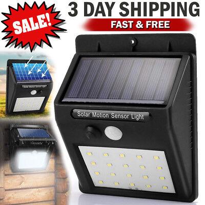 Motion Sensor Lights Outdoor Solar Security LED Flood Light Lamp Sensor Detector ()