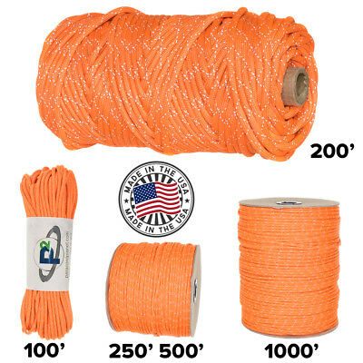 Paracord Planet 750 Criss Cross Reflective Tracer  - Many Color & Size Options - Paracord Cross