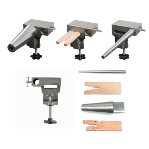 Bench Anvil Combo Kit-Round Bracelet and Ring Mandrels,Anvil,V Slot Bench Pin