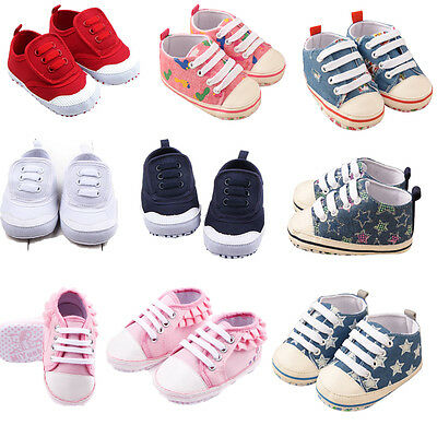 Summer Autumn Soft Sole Crib Shoes Infant Baby Boys Girls Sneaker Canvas Shoes