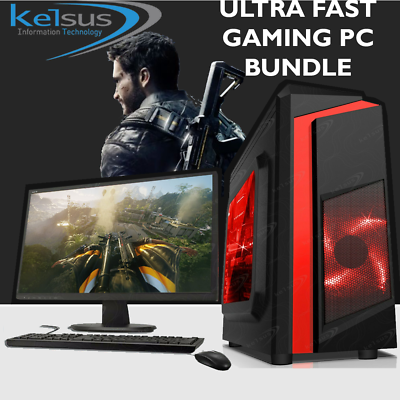 Computer Games - Ultra Fast Gaming PC Bundle Intel Core i5 8GB 1TB HDD GTX 1650 Windows 10 WIFI