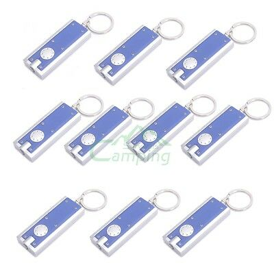 LOT 10 Super Bright Light LED Mini FlashLight KeyRing Key Chains Lamp Light