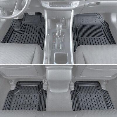 4 PC Rubber Car Floor Mats Motor Trend All Weather Semi-Custom Truck SUV Van