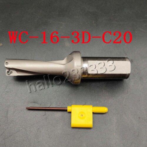 Φ16-3D-C20 16mm U drill indexable drill For WCMX0302 WCMX CNC U drill insert