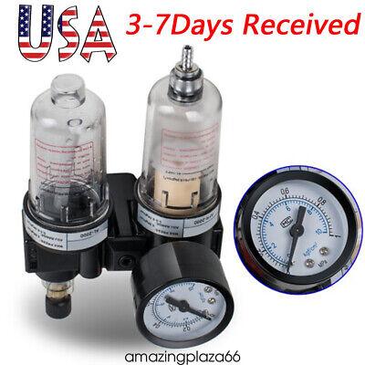 Air Filter Pressure Regulator Oilwater Separator Trap Airbrush Compressor Us