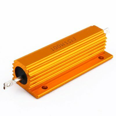 1 Ohm 100w Watt Power Aluminum Shell Resistance Shell Case Wirewound Resistor