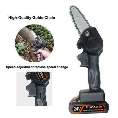 550W Mini One-Hand Saw Woodworking Electric Chain Saw Wood Cutter Cordless UK