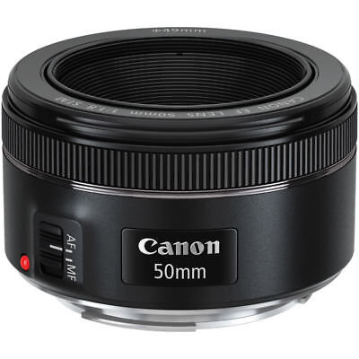BRAND NEW Canon EF 50mm f/1.8 STM Lens Black UK DISPATCH